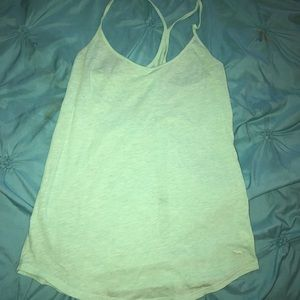 Mint green PINK racer back tank